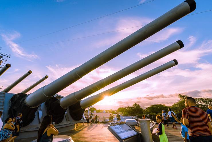 戦艦ミズーリの埠頭でピクニックを楽しもう