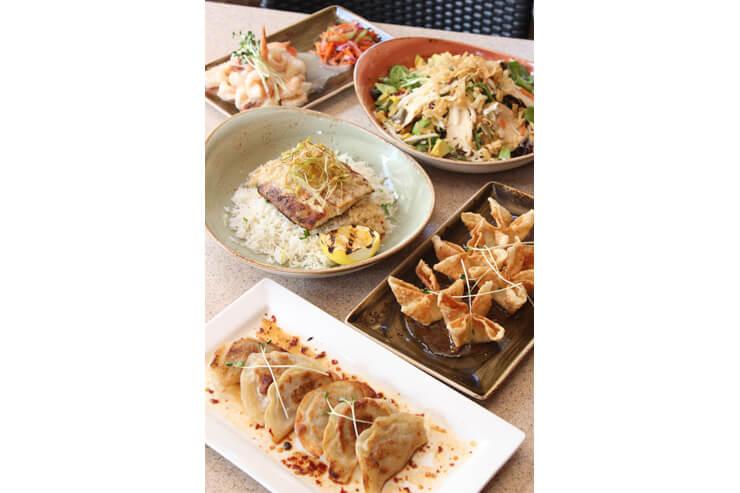 前菜やアントレは数種類の中から選べる