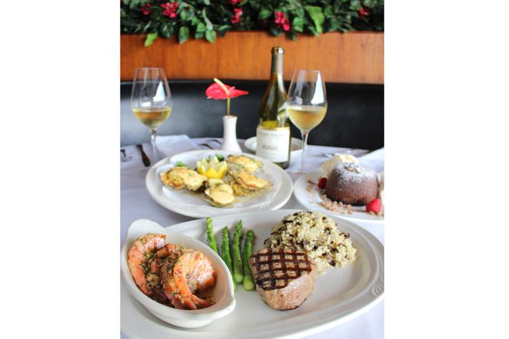 人気の2品がひと皿になった「ステーキ&シュリンプ」
