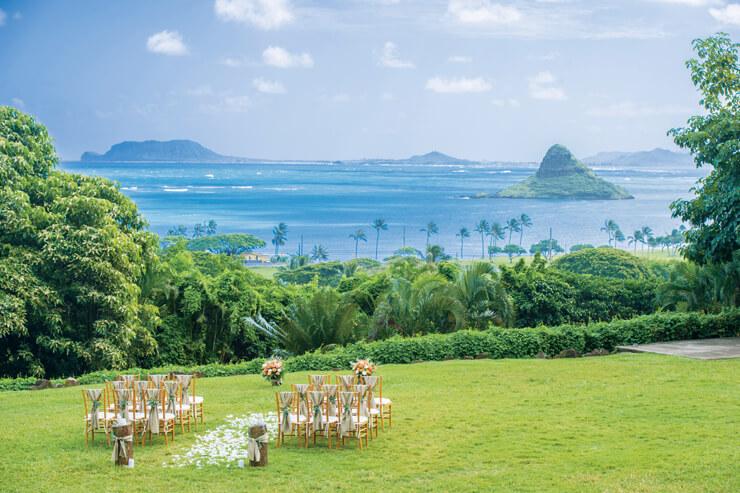 大自然が広がる結婚式場