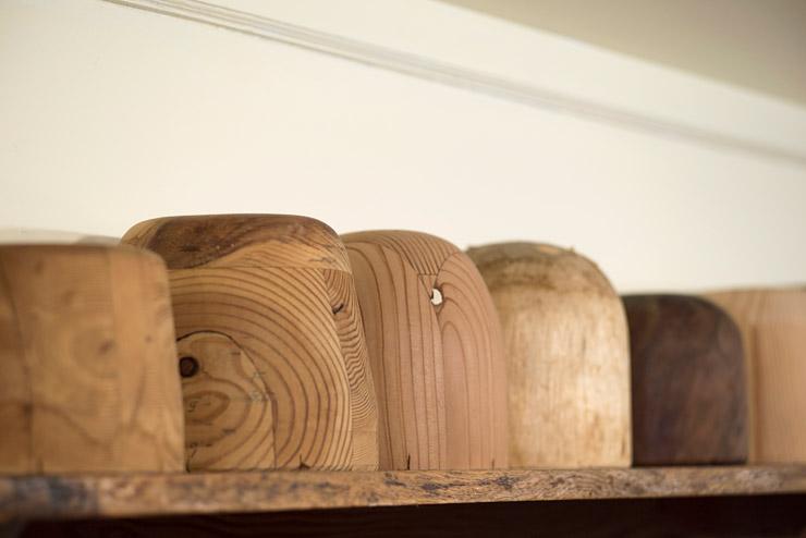 ラウハラの帽子を作る時に使う木型