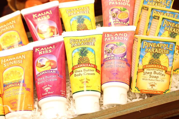 アイランド・ソープ&キャンドル・ワークスのハンドクリームとソープ