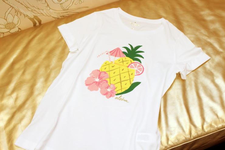 ケイト・スペードのハワイ限定Tシャツ