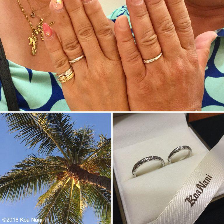 ご婚約&ご結婚指輪は、大好きなコアナニジュエリーで!