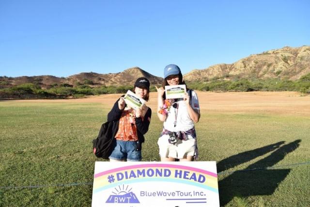 ダイヤモンドヘッド&人気朝食、KCC朝市のお客様ご紹介