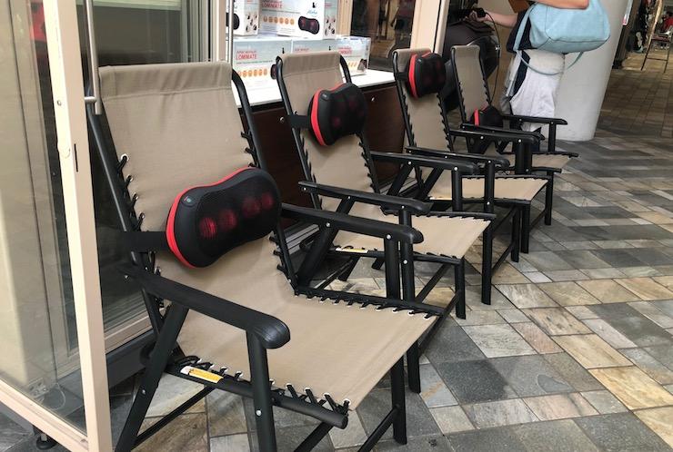 アラモアナセンターでマッサージチェアを無料体験