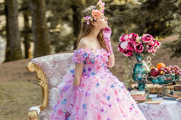 ハワイ挙式&フォトでカラードレスがレンタル無料