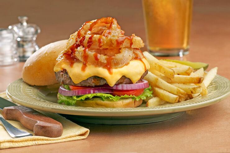 ランチにぴったりのハンバーガー。