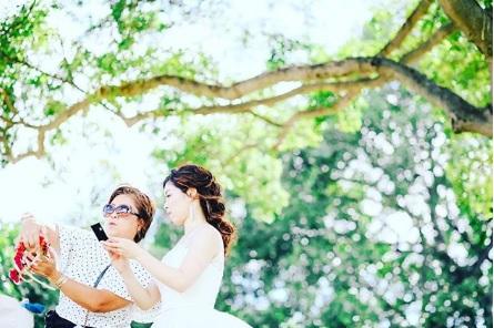 花嫁さんにぴったり寄添ってサポートします!