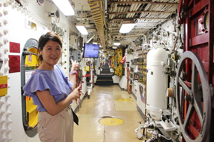 戦艦ミズーリ記念館の「探検家ツアー」で内部を見学するのもおすすめ。