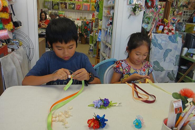 メアアロハのレッスンは、お子さんも挑戦可能。夏休みの宿題作りにもおすすめです。