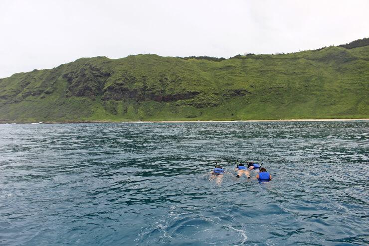 シュノーケリング中も混み合わないので、優雅に泳げる。