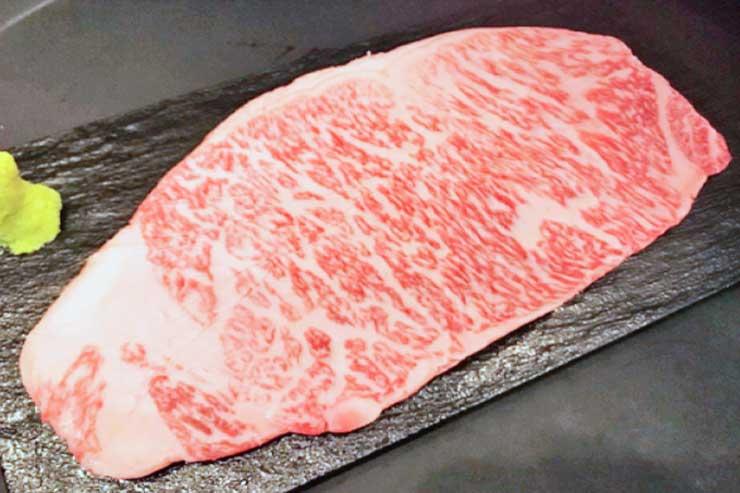 A5ランク宮崎黒毛和牛サーロイン($80)