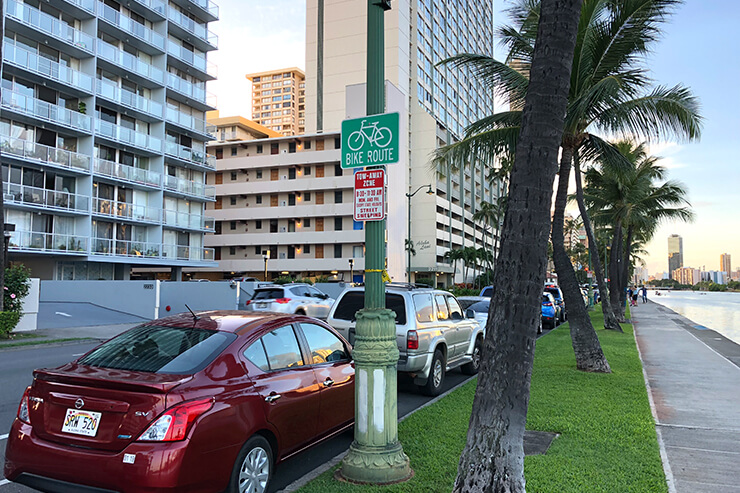 バイクルート(自転車道)の標識