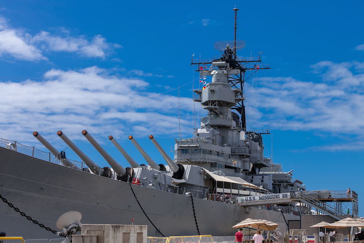戦艦ミズーリ号のアニバーサリー記念プロモーション