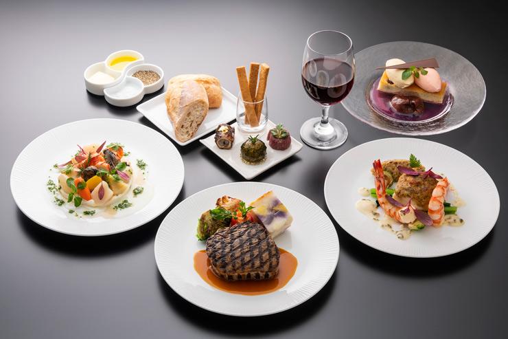 ANAオリジナルの洋食メニュー(ファーストクラス)
