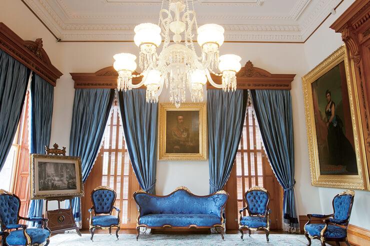 イオラニ宮殿の青の間