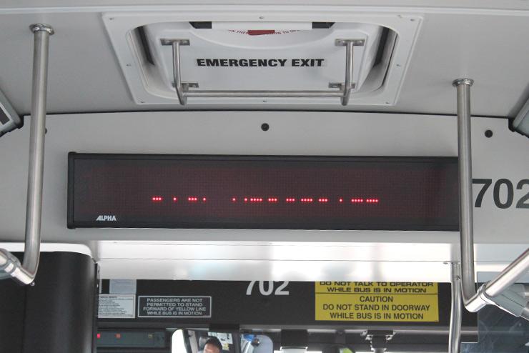 ザ・バスの電光掲示板