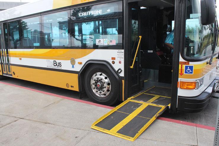 ザ・バスの車椅子専用スロープ