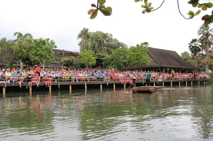 ポリネシア・カルチャー・センター内の運河