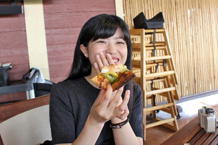 軽い食感のピザはぺろりと1枚食べられそう~。