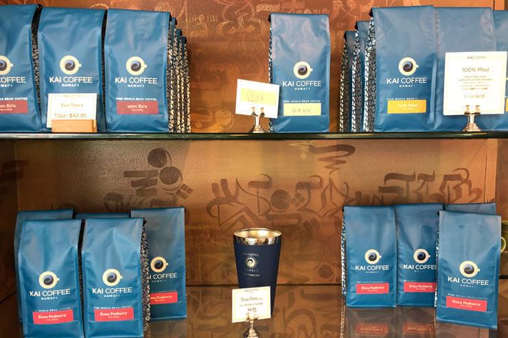 100%カウ・コーヒー:$34.95(左上)、100%マウイ・コーヒー:$34.95(右上)、 100%コナ・ピーベリー:$43.95(下)