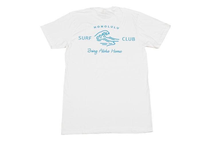 ユニセックスなデザインも魅力の白Tシャツ:$34