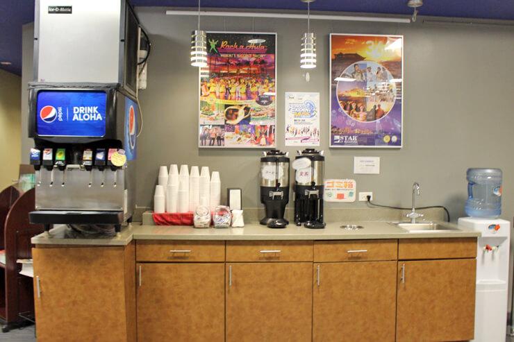 コーヒーやソフトドリンク無料