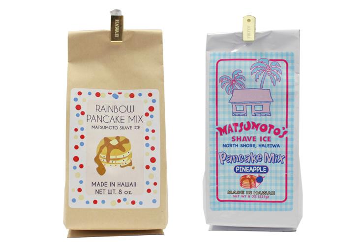 ●パンケーキミックス8オンス(写真左):$3.90 ●レインボー・バンケーキミックス8オンス(写真右):$4.10
