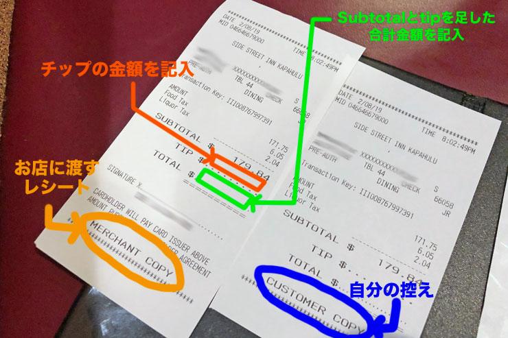 チップ 払い方 クレジットカード