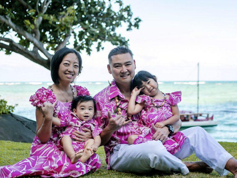 ハワイでフォトツアー|お揃いファミリーフォト