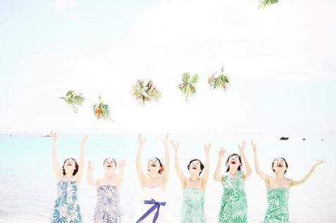 ハワイまで来てくれたお友だち&姉妹とブライズメイド!