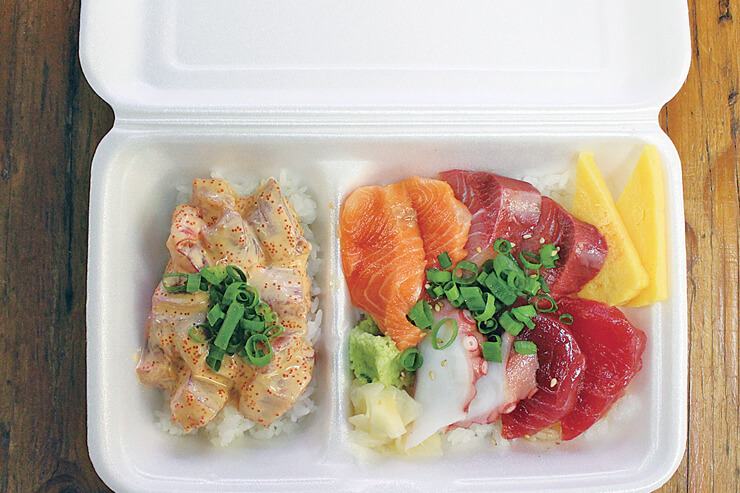 マグロ・ブラザーズ・ハワイのちらし寿司&ポケコンボ