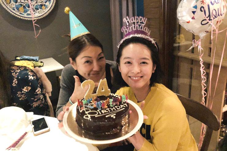LAで菜名の24歳のお誕生日をサプライズでお祝い!