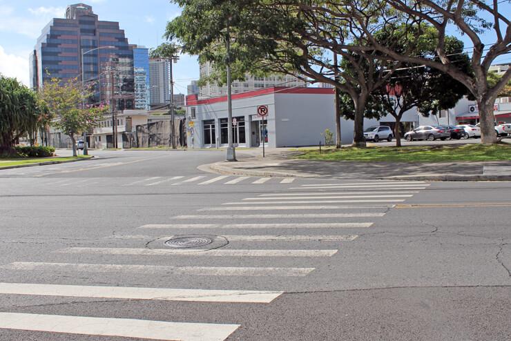 信号が設置されていない横断歩道