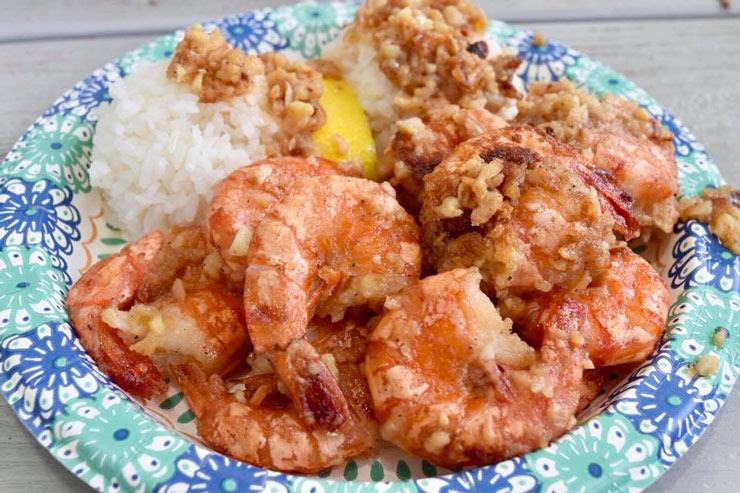 ハワイで食べたい  ガーリックシュリンプ