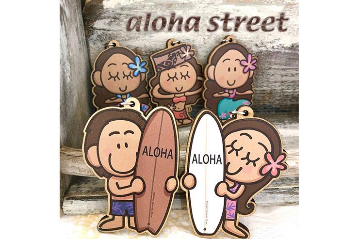 alohastreet限定キーホルダー ¥972    大人気LINEスタンプでおなじみのMililaniパイナッポーさんプロデュース!