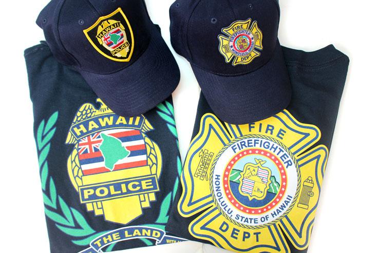ホノルル警察と消防のオリジナルグッズ