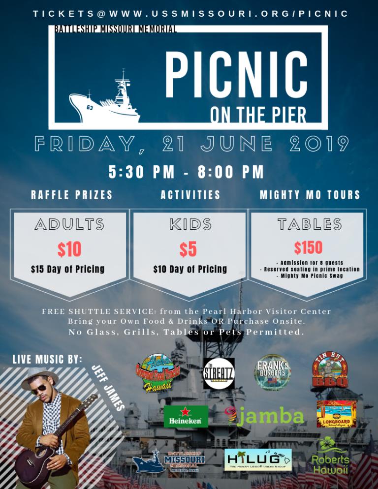 戦艦ミズーリの埠頭でピクニックをしませんか?