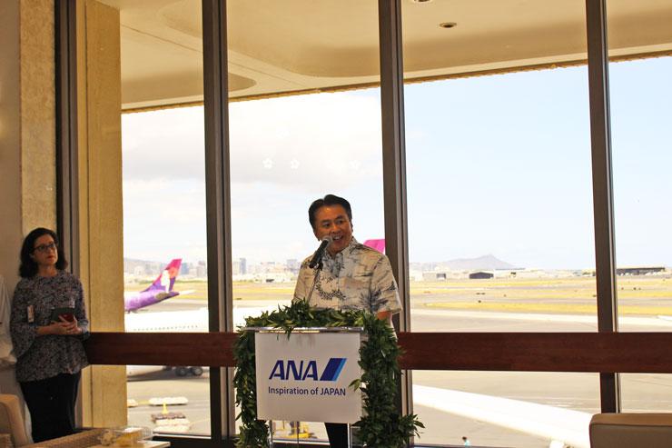 原氏:4年という長い時間を経て、たくさんの関係者の協力のもとハワイのダイナミックな自然を感じられるラウンジが完成しました。