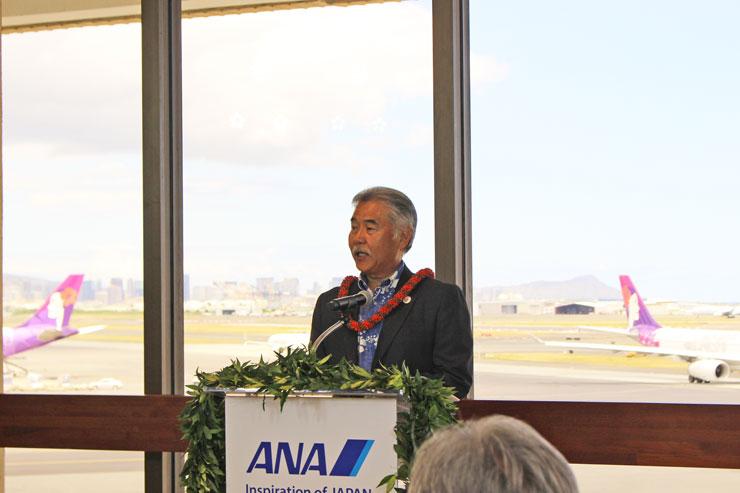 イゲ知事:もっとたくさんの日本人旅行者を迎えるだけでなく、ハワイに住んでいる方が日本を訪れる機会にも繋がると考えています。