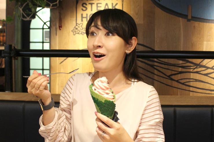 ナオコ「スイカそのものの味!サッパリしててステーキのあとでもペロッと食べられちゃう」