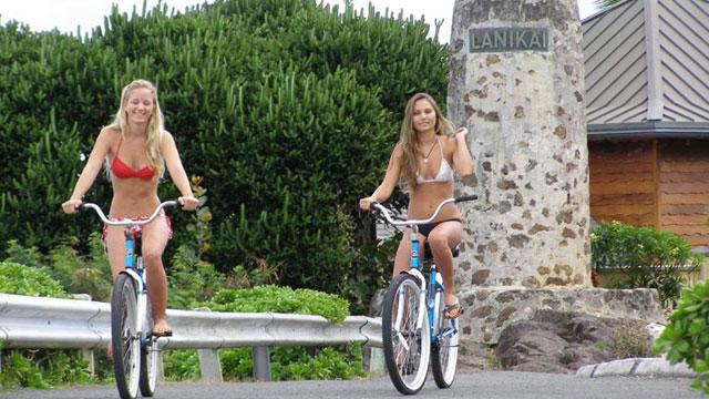 カイルアビーチツアー参加で自転車レンタル($20)が無料