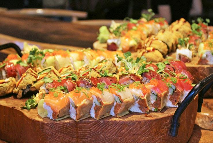 道楽寿司の盛り合わせ