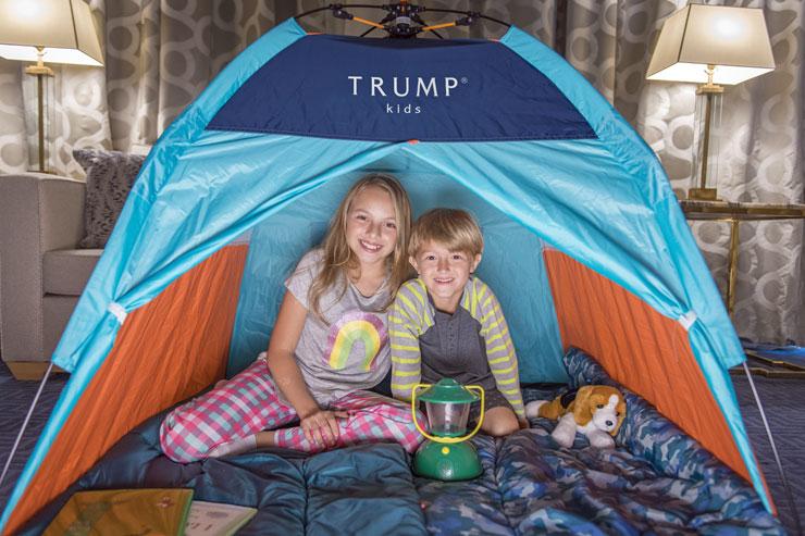 スイートルームでテントにお泊り⁉