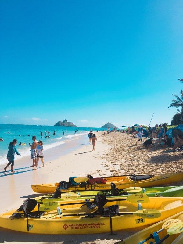 カイルアビーチでカヤックに挑戦してみませんか?