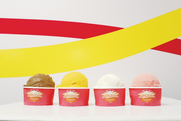 デリバリーもOK!ローカルメイドのアイスクリーム