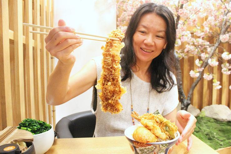 金子半之助の江戸前天丼のアナゴは特大