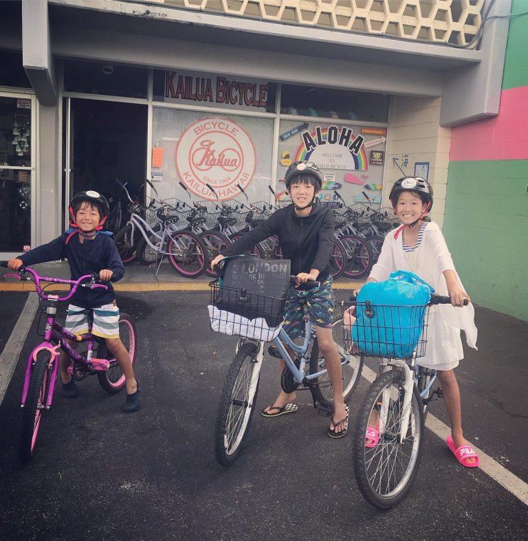 ご家族でサイクリング(カイルア編)