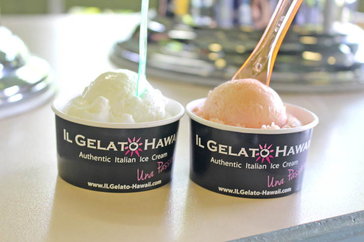 「イル・ジェラート」のアイスクリーム